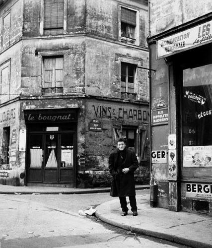 Doisneau Rue Hippolyte Maindron Giacometti Paris 1958.jpg