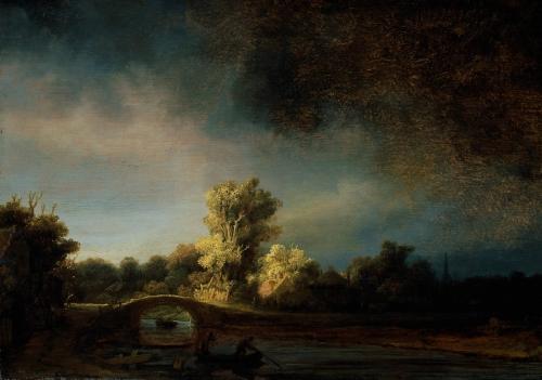 Rembrandt, le pont de pierre.jpg