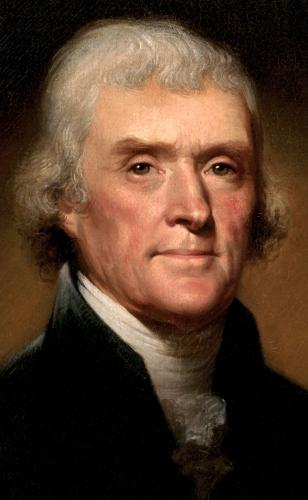 les hauts lieux de l'histoire dans l'hérault, Thomas Jefferson