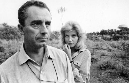 Michelangelo Antonioni and Monica Vitti photographed by Robert Frank at the 1961 Venice Film Festival.jpg