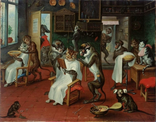 Abraham Teniers 1629 1670 barbershop with monkeys & cat's.jpg