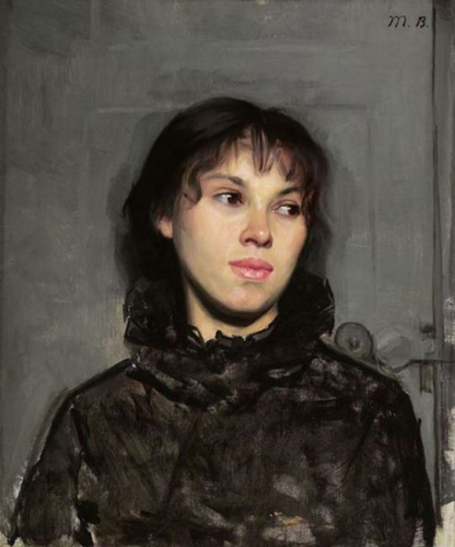 Portrait of a Woman (1882) by Marie Bashkirtseff.jpg