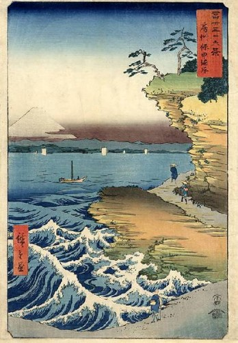 Hiroshige-%2036%20Views%20Of%20Mt%20Fuji%20-%20Fuji%20seen%20from%20the%20sea%20at%20Honmaki,%20Musashix600.jpg