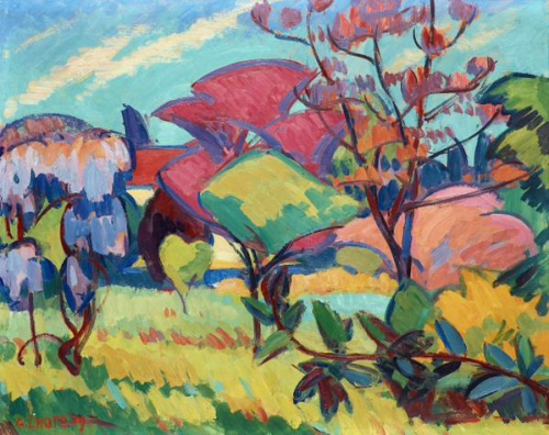 Magnolia Tree  (1909) oil  on paper on panel, André Lhote.jpg