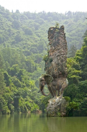 Elephant Rock sculpture, India.jpg