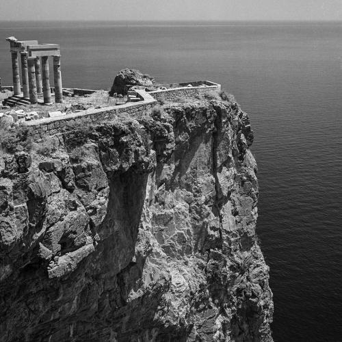 Acropolis of Lindos,Rhodes island,Greece,1954.jpg